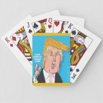 カードを遊ぶドナルド・トランプドナルドの漫画 トランプ