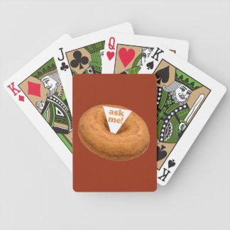カードを遊ぶドーナツユーモアのカスタム バイスクルトランプ