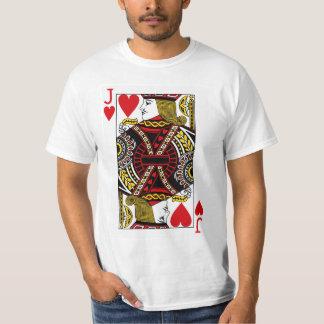 カードを遊ぶハートのジャック Tシャツ