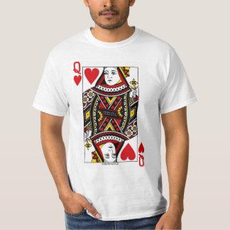 カードを遊ぶハートの女王 Tシャツ
