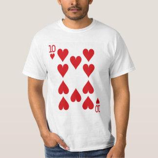 カードを遊ぶハートの10 Tシャツ