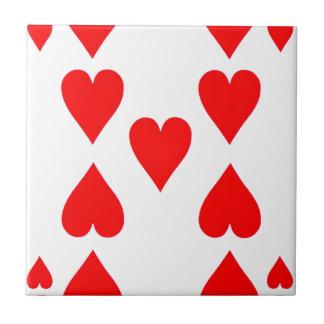 カードを遊ぶハートの9 タイル