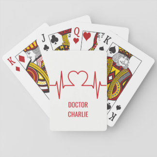 カードを遊ぶハートEKGの名前をカスタムする及び職業 トランプ