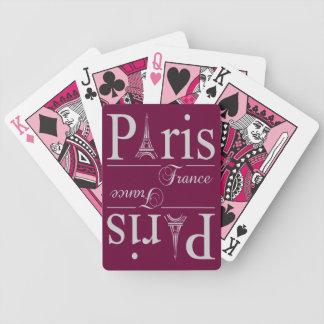 カードを遊ぶパリフランスのカスタム バイスクルトランプ