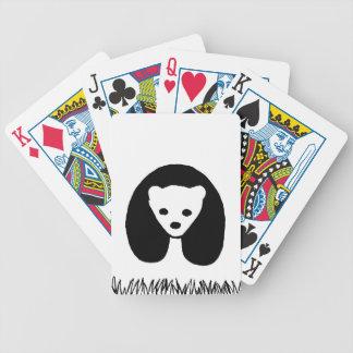 カードを遊ぶパンダのトランプのポーカー バイスクルトランプ