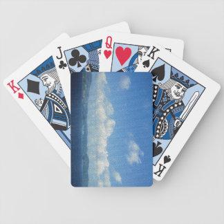 カードを遊ぶビーチの楽園の島のモザイクBicycle® バイスクルトランプ