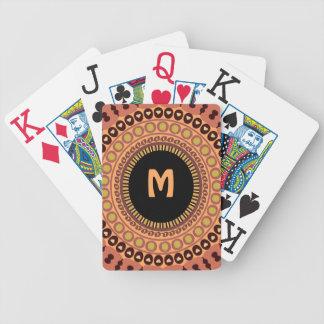 カードを遊ぶフクロウの目のカスタム バイスクルトランプ