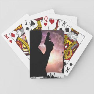 カードを遊ぶブラックパワー トランプ