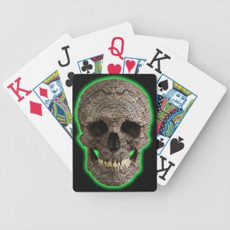 カードを遊ぶマヤのスカル バイスクルトランプ