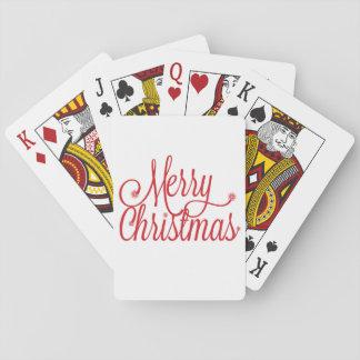カードを遊ぶメリークリスマス トランプ