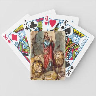 カードを遊ぶライオンの` sの洞穴のダニエル バイスクルトランプ