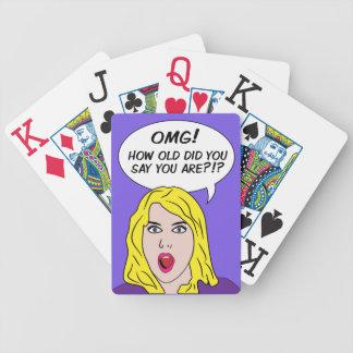 カードを遊ぶレトロの漫画 バイスクルトランプ