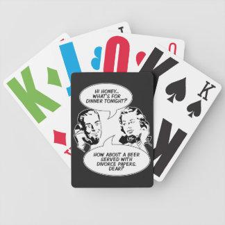 カードを遊ぶレトロの男女同権主義のユーモア バイスクルトランプ