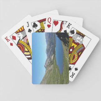 カードを遊ぶロッキー山脈の湖 トランプ