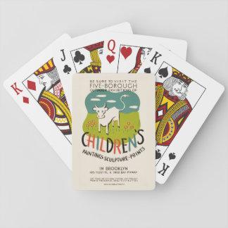 カードを遊ぶヴィンテージの子供の芸術 トランプ