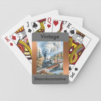 カードを遊ぶヴィンテージの蒸気機関車 トランプ