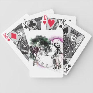 カードを遊ぶ不思議の国のアリス バイスクルトランプ