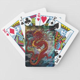 カードを遊ぶ中国のなドラゴン バイスクルトランプ