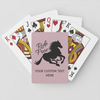 カードを遊ぶ乗車の自由でカスタムな色 トランプ
