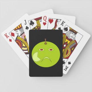 カードを遊ぶ傷ハロウィンが付いている邪悪なApple トランプ