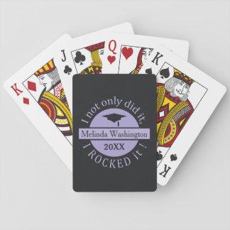 カードを遊ぶ卒業名前をカスタムする及び年 トランプ