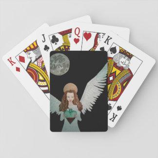 カードを遊ぶ古いブラックマジック トランプ