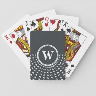 カードを遊ぶ名前入りなモノグラム トランプ
