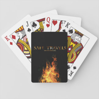 カードを遊ぶ安全な旅行カバーロゴ トランプ
