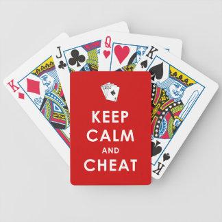 カードを遊ぶ平静および詐欺を保って下さい バイスクルトランプ