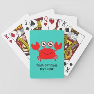 カードを遊ぶ幸せなカニの習慣 トランプ