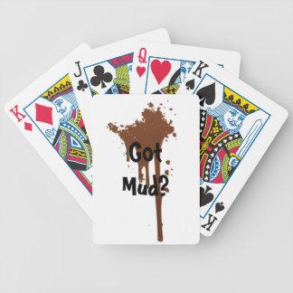カードを遊ぶ得られた泥 バイスクルトランプ