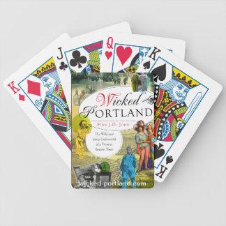 カードを遊ぶ悪賢いポートランド バイスクルトランプ