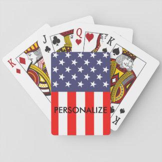 カードを遊ぶ愛国心が強い米国旗のカスタムなトランプのポーカー トランプ