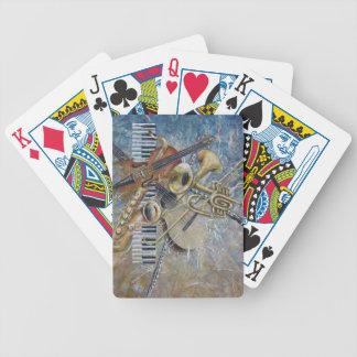 カードを遊ぶ抽象的なメロディー バイスクルトランプ