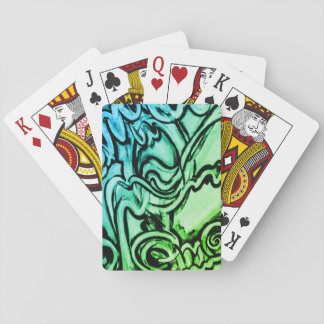 カードを遊ぶ抽象的な落書きスタイルの絵画 トランプ