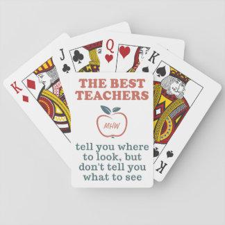 カードを遊ぶ最も最高のな先生のカスタムなモノグラム トランプ
