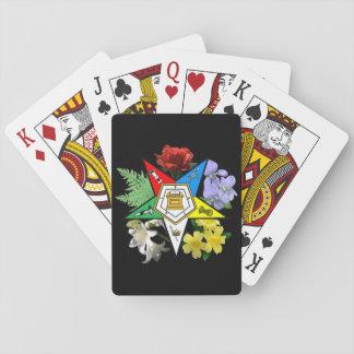 カードを遊ぶ東の星の花柄 トランプ
