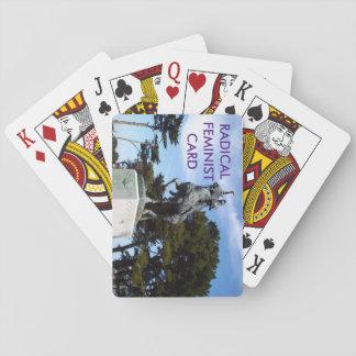 カードを遊ぶ根本的な男女同権主義カード トランプ