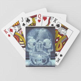 カードを遊ぶ水晶スカル トランプ