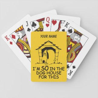 カードを遊ぶ犬小屋のカスタムな色 トランプ