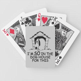 カードを遊ぶ犬小屋のカスタムな色 バイスクルトランプ
