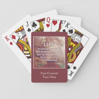 カードを遊ぶ生命引用文のカスタム トランプ