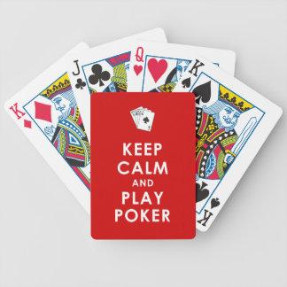 カードを遊ぶ穏やかなおよび演劇のトランプのポーカー保って下さい バイスクルトランプ