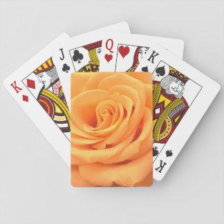 カードを遊ぶ美しいオレンジのばら色の写真 トランプ