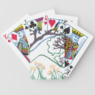 カードを遊ぶ自然場面トランプのポーカー バイスクルトランプ