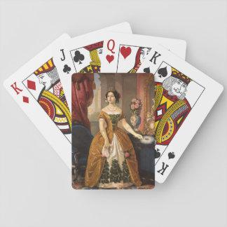 カードを遊ぶ芸術のポートレート トランプ