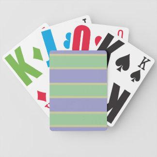 カードを遊ぶ薄紫/ミントのストライプなカスタム バイスクルトランプ