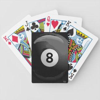 カードを遊ぶ8球 バイスクルトランプ