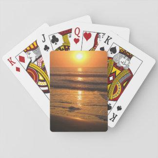"""カードを遊ぶ""""日の出大西洋の""""の標準 トランプ"""