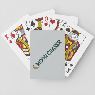 """カードを遊ぶ""""月チェーサー""""の習慣 トランプ"""